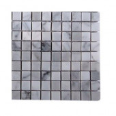 Oriental Squares Marble Floor and Wall Tile - 6 in. x 6 in. Tile Sample