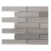 Athens Grey Stack Polished Marble Floor and Wall Tile - 6 in. x 6 in. x 8 mm Floor and Wall Tile Sample