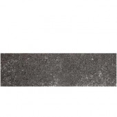 Metal Effects Illuminated Titanium 3 in. x 13 in. Porcelain Surface Bullnose Floor and Wall Tile-DISCONTINUED