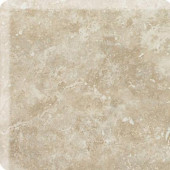 Heathland White Rock 3 in. x 3 in. Glazed Ceramic Bullnose Corner Wall Tile