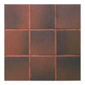 Quarry Red Flash 8 in. x 8 in. Ceramic Floor and Wall Tile (11.11 sq. ft. / case)