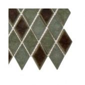 Roman Selection Basilica Diamond Glass Floor and Wall Tile Sample