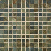 Sage 13 in. x 13 in. x 8-1/2mm Taupe Porcelain Mesh-Mounted Mosaic Floor and Wall Tile