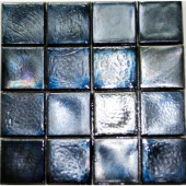 Edgewater Black Sand Glass Mosaic & Wall Tile - 5 in. x 5 in. Tile Sample-DISCONTINUED