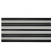 Identity Gray/Black Fabric 12 in. x 24 in. Porcelain Decorative Accent Floor and Wall Tile-DISCONTINUED