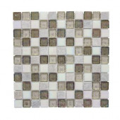 Fall Opal Cut-Edge 12 in. x 12 in. x 6 mm Glass Quartzite Mosaic Wall Tile