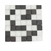 Tetris Basalt Squares Natural Stone Floor and Wall Tile Sample