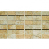 Argos 13 in. x 24 in. Beige Porcelain Mesh-Mounted Mosaic Tile-DISCONTINUED