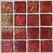 Egyptian Glass Rosetta 12 in. x 12 in. x 6 mm Glass Face-Mounted Mosaic Wall Tile-DISCONTINUED