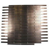 Metal Rouge Stainless Steel Stick 12 in. x 12 in. x 8 mm Metal Mosaic Floor and Wall Tile