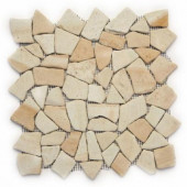Indonesian Bamboo 12 in. x 12 in. x 6.35 mm Natural Stone Pebble Mesh-Mounted Mosaic Tile (10 sq. ft. / case)