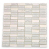Contempo Condensation Blend 1/2 in. x 2 in. Glass Tile Sample