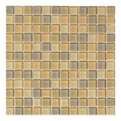 Maracas Wild Flower Blend 12 in. x 12 in. 8mm Glass Mesh Mounted Mosaic Wall Tile (10 sq. ft. / case)-DISCONTINUED