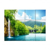 Waterfall3 24 in. x 18 in. Tumbled Marble Tiles (3 sq. ft. /case)