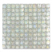Pillow Glass Opal 12 in. x 12 in. x 9.5mm Glass Mosaic Wall Tile (10 sq.ft./Case)