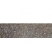 Metal Effects Brilliant Bronze 3 in. x 13 in. Porcelain Surface Bullnose Floor and Wall Tile-DISCONTINUED