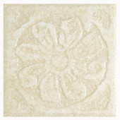 Hampton Sand 4 in. x 4 in. Porcelain Decorative Insert B Floor & Wall Tile-DISCONTINUED