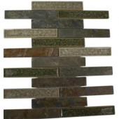 Roman Selection Emperial Slate 12 in. x 12 in. x 8 mm Glass Floor and Wall Tile