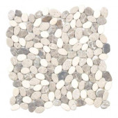 River Rock Medley 12 in. x 12 in. x 8 mm Travertine Mosaic Floor/Wall Tile