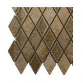 Roman Selection Side Saddle Diamond Glass Floor and Wall Tile - 6 in. x 6 in. Tile Sample