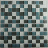 Cloudz Altostratus-1430 Mosaic Glass Mesh Mounted Tile - 3 in. x 3 in. Tile Sample