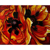 O'Keeffe, Oriental Poppies 11 in. x 14 in. Trivet and Wall Accent Tile (felt back)-DISCONTINUED