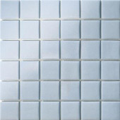 12.5 in. x 12.5 in. Capri Celeste Grip Glass Tile-DISCONTINUED