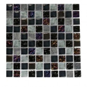 Seattle Skyline Blend Squares 1/2 in. x 1/2 in. Marble and Glass Tile Squares - 6 in. x 6 in. Floor and Wall Tile Sample