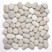 River Rock Brookstone 12 in. x 12 in. x 12.7 mm Natural Stone Pebble Mosaic Floor and Wall Tile (10 sq. ft./case)