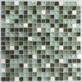 Riverz Amazon Stone and Glass Blend Mesh Mounted Floor and Wall Tile - 3 in. x 3 in. Tile Sample