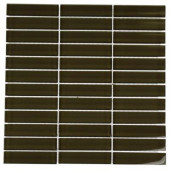 12 in. x 12 in. Contempo Khaki Polished Glass Tile-DISCONTINUED