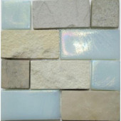 Edgewater Summerland Glass and Slate Mosaic & Wall Tile - 5 in. x 5 in. Tile Sample-DISCONTINUED