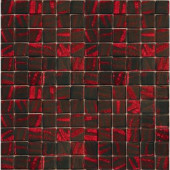 Metalz Manganese-1014 Mosiac Recycled Glass Mesh Mounted Floor and Wall Tile -3 in. x 3 in. Tile Sample