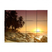 Beach2 24 in. x 18 in. Tumbled Marble Tiles (3 sq. ft. /case)