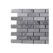 White Carrera 1/2 in. x 2 in. Marble Tile Sample