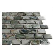 Pitzy Brick Donegal Gray Pearl Tile Mini Brick Pattern Tile Sample