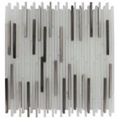 Ice 12 in. x 12 in. x 8 mm Glass Mosaic Floor and Wall Tile