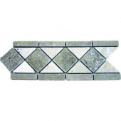 Noche 4 in. x 12 in. Tumbled Travertine Listello Floor and Wall Tile