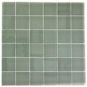 Contempo Seafoam Polished 12 in. x 12 in. x 8 mm Glass Floor and Wall Tile