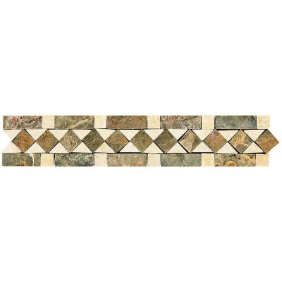 Stone Decorative Accents Diamond Dream 2-3/8 in. x 12 in. Marble Accent Wall Tile