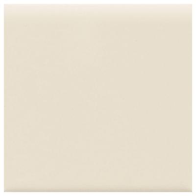 Matte Almond 6 in. x 6 in. Ceramic Bullnose Wall Tile