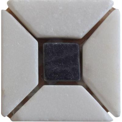 Carrara Blanco 2 in x 2 in 4-pack Marble Stone Wall Tile