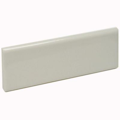 Color Collection Bright Bone 2 in. x 6 in. Ceramic Surface Cap Wall Tile