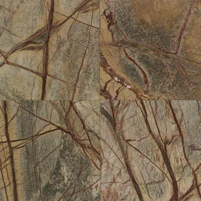 Natural Stone Collection Rainforest Green 12 in. x 12 in. Marble Floor and Wall Tile (10 sq. ft. / case)