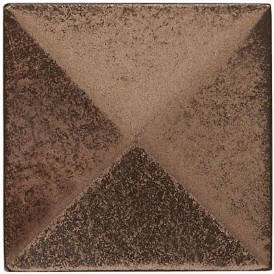 2 in. x 2 in. Cast Metal Pyramid Dot Classic Bronze Tile (10 pieces / case) - Discontinued