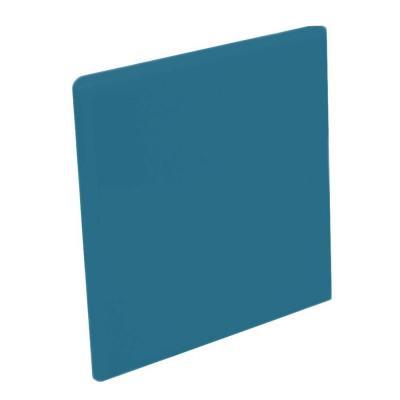 Bright Denim 4-1/4 in. x 4-1/4 in. Ceramic Surface Bullnose Corner Wall Tile-DISCONTINUED