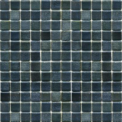 Metalz Textured Tungsten-1009 Mosaic Recycled Glass 12 in. x 12 in. Mesh Mounted Floor & Wall Tile (5 sq. ft.)