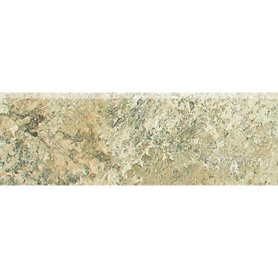 Folkstone Slate Sandy Beach 2 in. x 6 in. Porcelain Bullnose Wall Tile