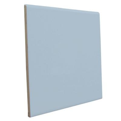 Bright Wedgewood 6 in. x 6 in. Ceramic Surface Bullnose Wall Tile-DISCONTINUED