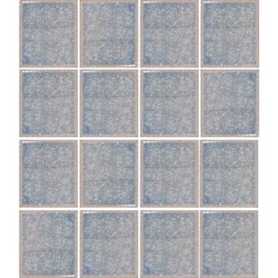 Oceanz Arctic Blue-1726 Crackled Glass 12 in. x 12 in. Mesh Mounted Tile (5 sq. ft.)